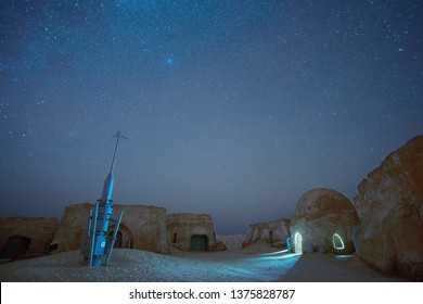 04/11/2017 Nafta, Tunisia, Star Wars Mos Espa spaceport, built in the desert for filming 4th episode of star wars movie in Tozeur, Tunisia - Image
