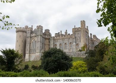 04/13/19 Arundel, West Sussex, UK Arundel castle  in Arundel, a typical English Castle