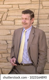 04/16/2001 Estancia, New Mexico.David Parker Ray, a known torturer of women and suspected serial killer on trial. Ray was convicted and under a plea deal received a sentence of 224 years in prison.