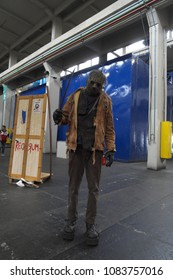 04-18-2015 Lingotto Fiere in Turin, Italy, Torino Comics, Jason Voorhees Cosplayer