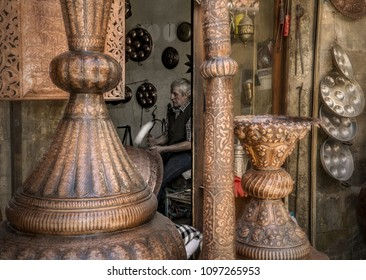 04/23/2018,Gaziantep,Turkey, which consists of a bazaar complex produced by many handicraft tradesmen, presents sections with timber-plastered shops and stone-paved streets at a different time from us