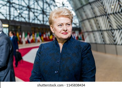 04.29.2017 Brussels, Belgium –Dalia Grybauskaite - President of Lithuania during Special European Council (Art. 50)