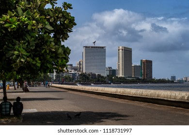04-november-2017 air india building Trident and The Oberoi NCPA Apartments at Marine Drive Queen's Necklace