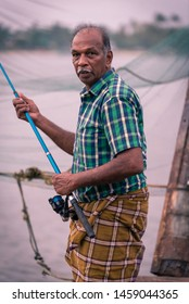 05 April 2019. Kochi, India: fisherman working and living in the village of Kerala. Those people are co-living with the massive amount of tourist assaulting the place every year for holiday purposes.