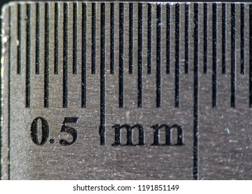 0,5 mm ruler extreme close-up macro