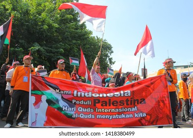 05-05-2019 Semarang residents call for Palestinian protests, commemoration of AL Quds 2019, in Semarang, Central Java, Indonesia