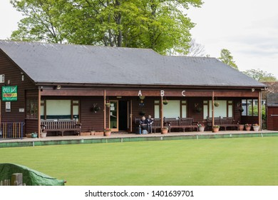 05/10/19 Arundel, West Sussex, UK Arundel bowls club with bowling green in the foreground