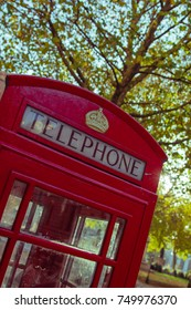 05/11/2017 LONDON, UK, Traditional red british phone booth