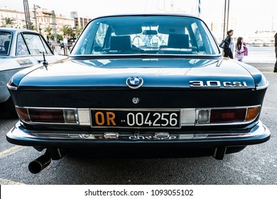 05-13-2018, Sardinia, Cagliari harbor, Coppa gentlemen sardi, cars exibition, BMW 3.0 CSI
