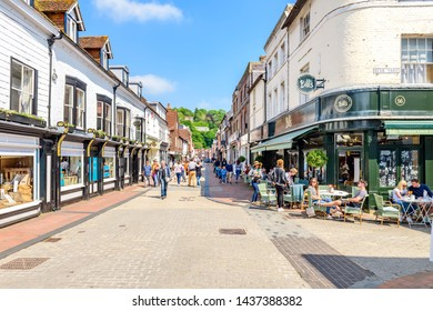 05.20.2018, Sussex, UK. The high street Lewes, a pedestrianised shopping street