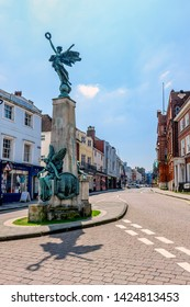 05.20.2018, Sussex, UK. The war memorial at Lewes high street East Sussex UK