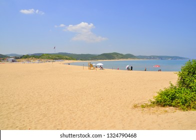 05/28/2014- Agva, Istanbul, Turkey. Beach of the small town in the Black Sea coast.