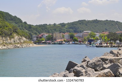 05/28/2014- Agva, Sile, Istanbul, Turkey. View of small fishing village in the Black Sea region.