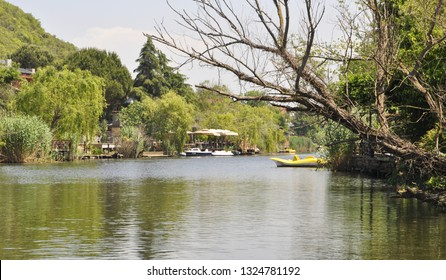 05/28/2014- Agva, Sile, Istanbul, Turkey. It's a popular place place and resort destination on Goksu river.