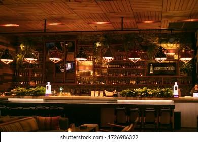 05th October 2018 Jakarta, Java, Indonesia. Bar sky lounge in Jakarta