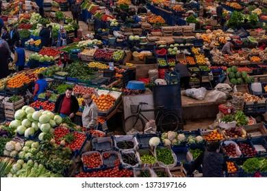 06 April 2019, Konya Women Bazaar (old name Melike Hatun Carsısı) Konya/Turkey