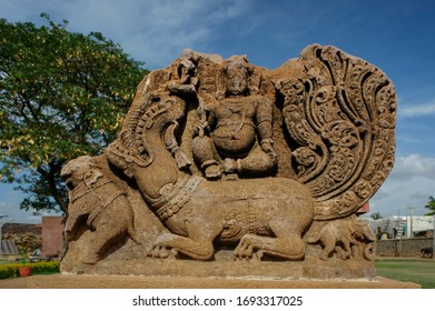 06 Jun 2008 Deity of Shatabhisha - Varuna. Varuna on Makara (Rain God on Crocodile) - at Aihole Karnataka India