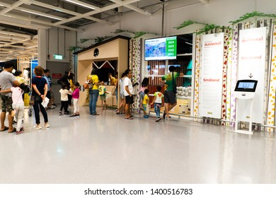 06 May 2019; Nonthaburi Thailand: Smaland at IKEA Store Bangyai in Thailand. IKEA is a retail furniture and home accessories store.