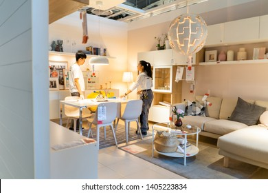 06 may 2019 nonthaburi thailand ikea showroom interior at ikea store bangyai in thailand