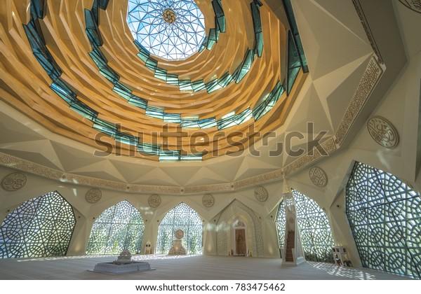06 Oct 2017 Marmara University Theology of Islam Mosque, the greatest dome, Istanbul, Turkey