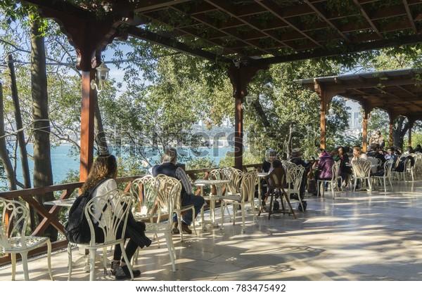 06 Oct 2017 Uskudar Fethi Pasha Park Garden, Istanbul, Turkey