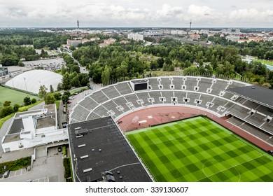 06 September 2015. Helsinki. views of the Olympic stadium in Helsinki.Finland