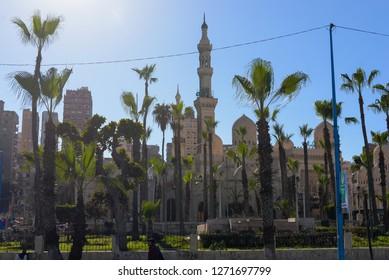 06.02.2018 Alexandria, Egypt. Mosque of Abu Abbas al Mursi in Alexandria