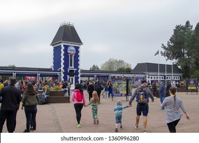 06.04.2019 Alton Towers Resort, UK. Entrance to Alton Towers Resort. Is a theme park resort located in Staffordshire, England. The resort, which is operated by Merlin Entertainments Group.