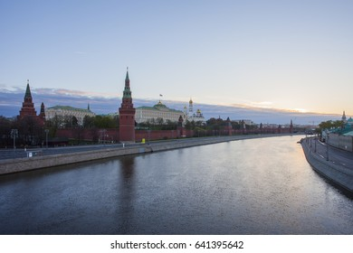 06.05.17  Russia. Moscow. Morning view of the Kremlin