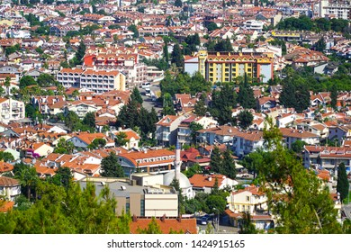 06/05/2019- Marmaris, Turkey. High angle view of Marmaris town which is located in Mugla district of Turkey.