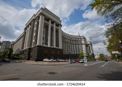 06.05.2020 Ukraine. Kyiv. The Cabinet of Ministers of Ukraine building's