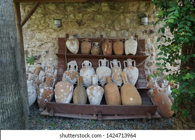 06/07/2019- Marmaris, Turkey. Historical objects exhibited in Marmaris Castle Museum .
