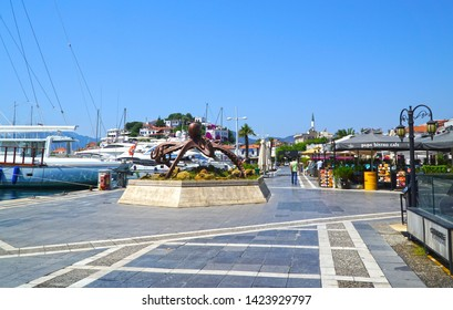 06/07/2019- Marmaris, Turkey. View of Marmaris Marina  with yachts.