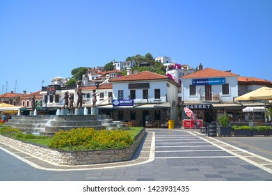 06/07/2019- Marmaris, Turkey. View of old town  Marmaris  in marina.
