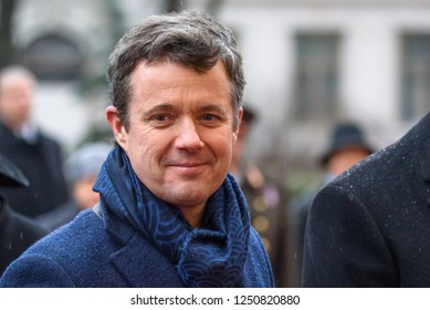 06.12.2018. RIGA, LATVIA. Arriving to Official visit in Latvia of his Royal Highness Crown Prince of Denmark Frederik and her Royal Highness Crown Princess Mary Elizabeth of Denmark.