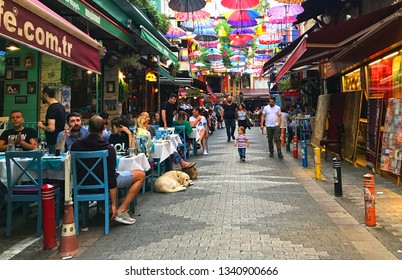 06/23/2018- Istanbul, Turkey.  Kadikoy is the center of Anatolian side of the city with its colorful street restaurants and shops.