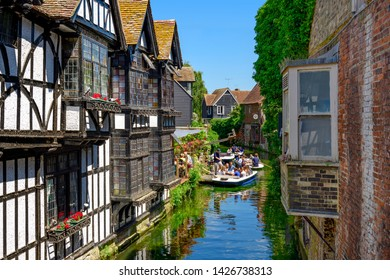 06.25.2018. Canterbury, Kent, UK. Boaters on the great stour river Canterbury Kent