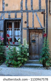 06-26-2018 Vernon France. Old timbered house in Vernon, normandy, France.