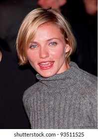 """06MAR98:  Actress CAMERON DIAZ at the Hollywood premiere of boyfriend Matt Dillon's new movie, """"Wild Things,"""" in which he stars with Neve Campbell and Kevin Bacon."""