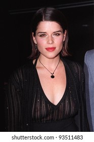"06MAR98:  Actress NEVE CAMPBELL at the premiere in Hollywood of her new movie, ""Wild Things,"" in which she stars with Kevin Bacon and Matt Dillon."