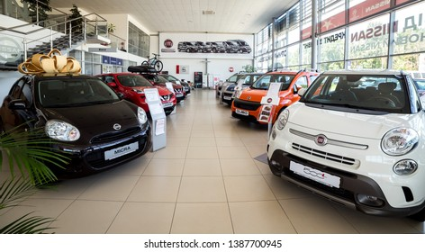 07 of August 2017 - Vinnitsa, Ukraine. Showroom of FIAT