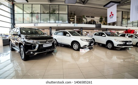 07 of August 2017 - Vinnitsa, Ukraine. Showroom of  Mitsubishi