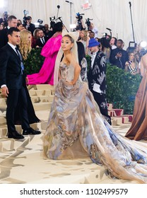 "07 May 2018 - New York, New York - Ariana Grande. 2018 Metropolitan Museum of Art Costume Institute Gala: ""Heavenly Bodies: Fashion and the Catholic Imagination"