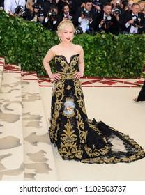 "07 May 2018 - New York, New York - Emilia Clarke. 2018 Metropolitan Museum of Art Costume Institute Gala: ""Heavenly Bodies: Fashion and the Catholic Imagination"