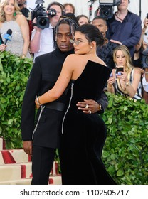 "07 May 2018 - New York, New York - Travis Scott, Kylie Jenner. 2018 Metropolitan Museum of Art Costume Institute Gala: ""Heavenly Bodies: Fashion and the Catholic Imagination"