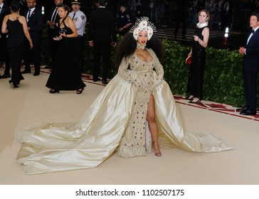 "07 May 2018 - New York, New York - Cardi B. 2018 Metropolitan Museum of Art Costume Institute Gala: ""Heavenly Bodies: Fashion and the Catholic Imagination"