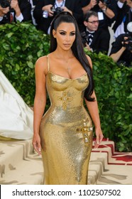"07 May 2018 - New York, New York - Kim Kardashian. 2018 Metropolitan Museum of Art Costume Institute Gala: ""Heavenly Bodies: Fashion and the Catholic Imagination"
