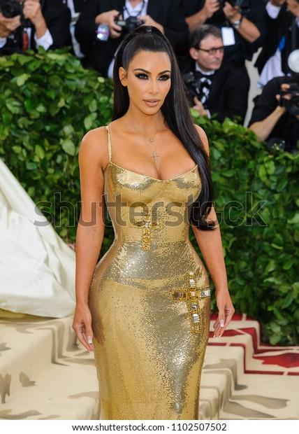 "07 May 2018 - New York, New York - Kim Kardashian. 2018 Metropolitan Museum of Art Costume Institute Gala: ""Heavenly Bodies: Fashion and the Catholic Imagination"