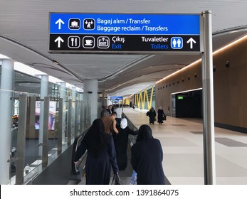 07 MAY 2019 Istanbul-Turkey: Arrival area in the new Istanbul Airport ( istanbul new airport) Third Istanbul Airport