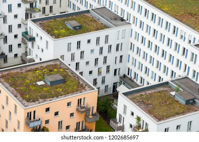 07.03.2012, Hamburg, Germany: View on houses from the Michel Church.